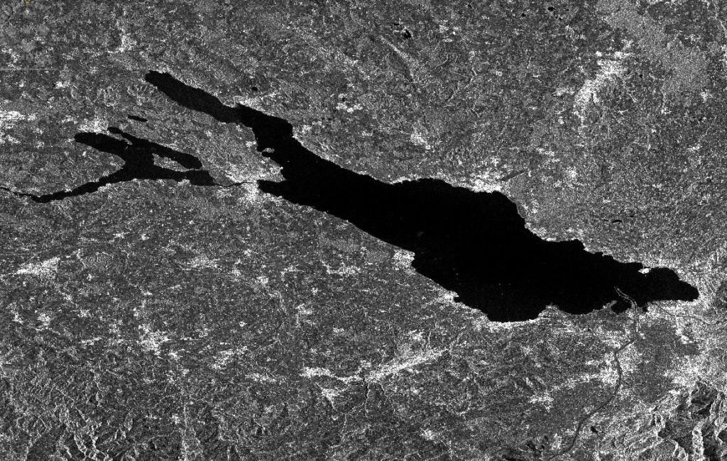 Bild von Sentinel-1A der Bodenseeregion - (c) ESA