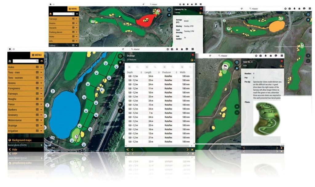 Online Golfplatz Informationssystem
