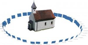 Kapelle mit Aufnahmestandorten