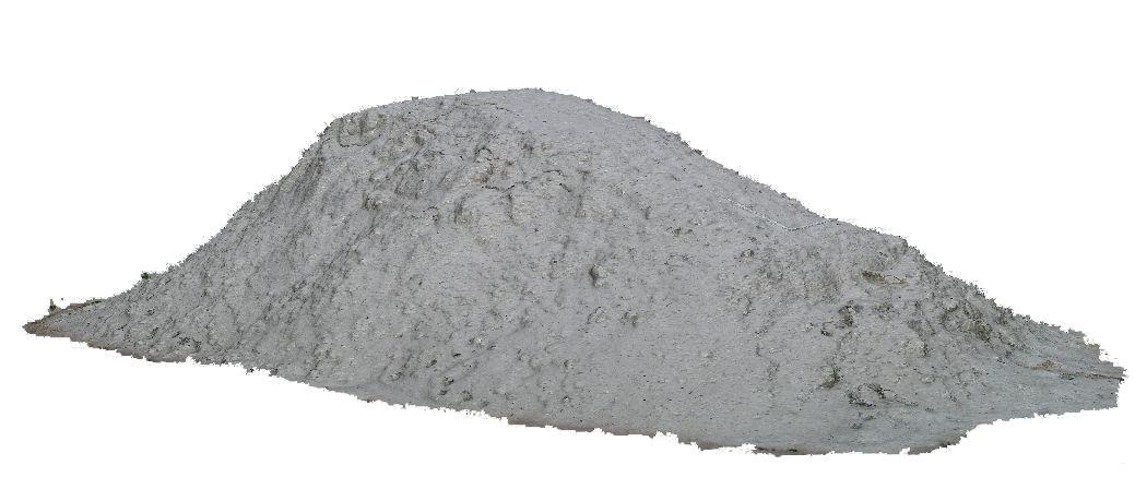 Punktwolke eines Sandhügels