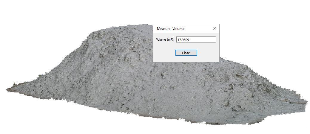 Aus 3D Modell abgeleitetes Volumen